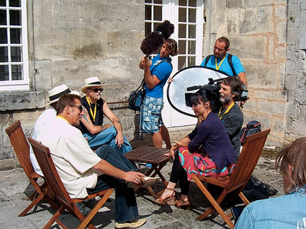Interviews at Otard Castle, Cognac, France ©Kelly Davis